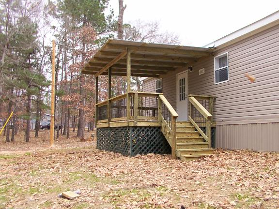 Modular home deck designs modular homes for Deck plans for mobile homes