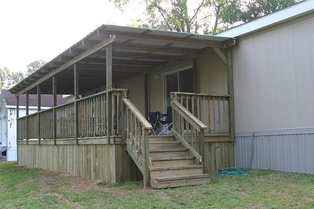 Decks and porches the mobile home woman Decks and porches for mobile homes