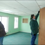 The big office...  ewwww....  mint green walls!