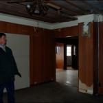 The dark living room